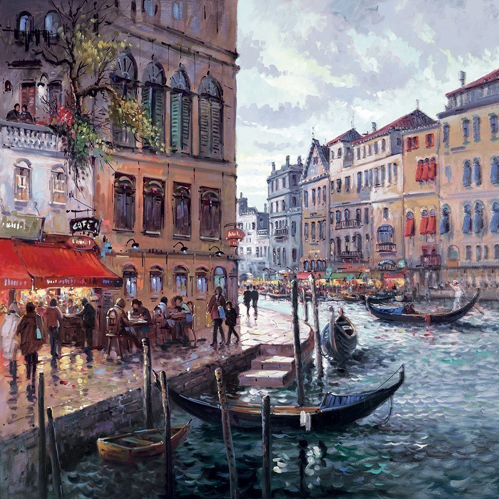 Dreaming Of Venice by Henderson Cisz - Hand Finished Limited Edition on Canvas sized 30x30 inches. Available from Whitewall Galleries